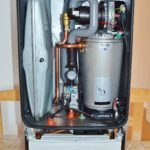 water heater open for repair